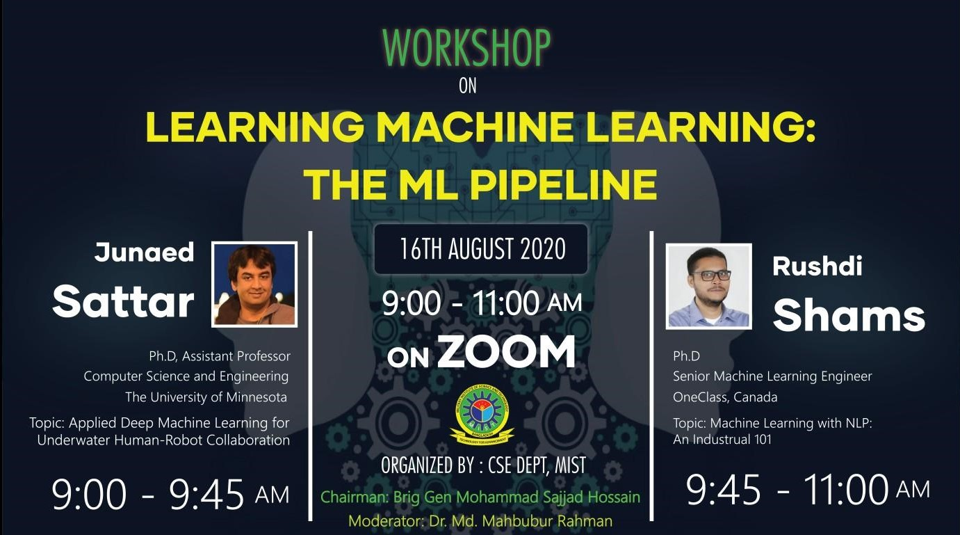 "Workshop on ""Learning Machine Learning: The ML Pipeline"" by CSE Dept"